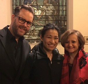 UN Under-Secretary-General Cristina Gallach, Daniel and Faye Chiao